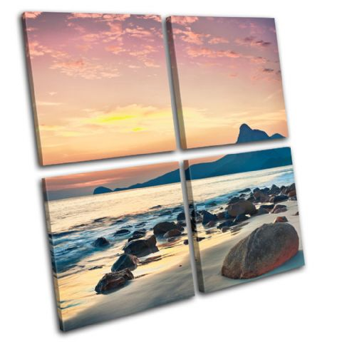 Sunrise mountain Sunset Seascape - 13-0278(00B)-MP01-LO